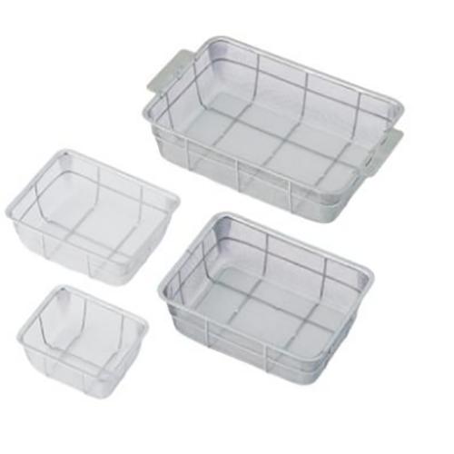 亚速旺(ASONE)方形加深不锈钢消毒筐 10枚(1个),7-4002-03
