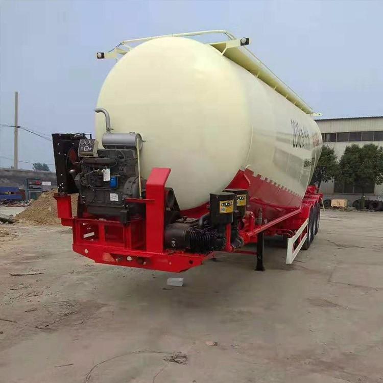 散装水泥罐式半挂车工厂定制 散装水泥罐半挂车转让
