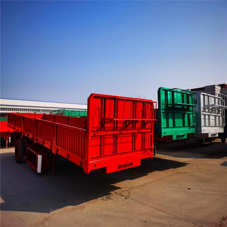 轻型13米标箱侧翻直卸半挂车 做工精细 材质轻量化