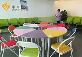 學校團體活動桌椅6色電話