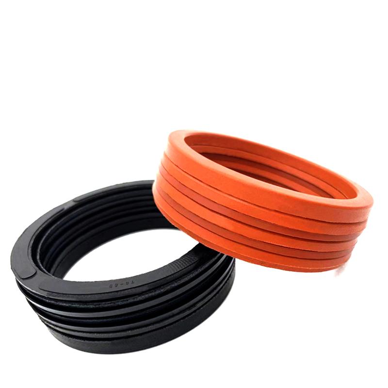 台湾KVK,活塞杆用V型夹布组合,980*1020*80,7组件,材质氟橡胶混合织物