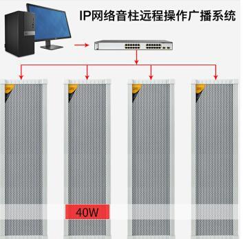 公园广播音柱批发价 POE供电IP网络音柱 高强度防水设计