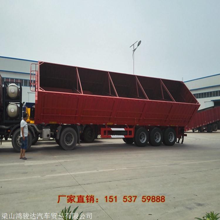 13米輕型側翻自卸半掛車 側翻自卸車載 北京13米側翻自卸車生產