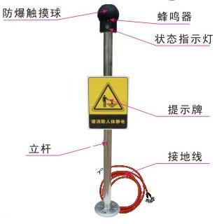 静电释放柱现货 人体静电消除仪