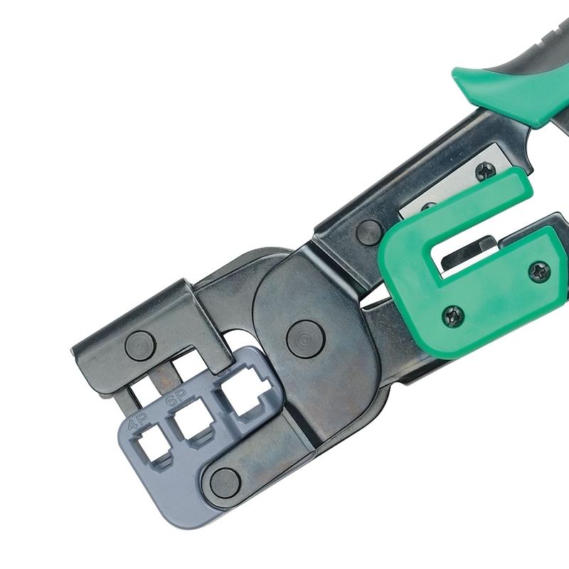 宝工 Pro'skit 3合1铁柄棘轮压着钳,4/6/8P,CP-376M