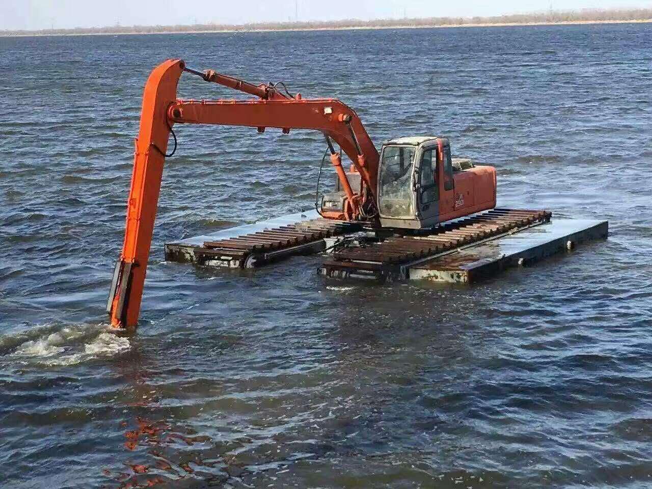 水陆挖机租 船挖 供应水陆挖机出租价格