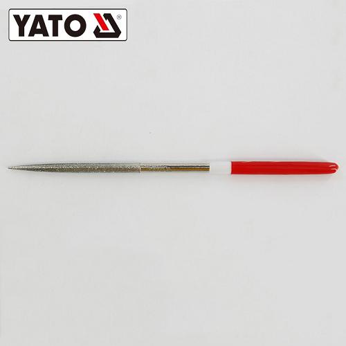 易尔拓YATO 金刚石尖头半圆锉,5x180x70mm,YT-6153