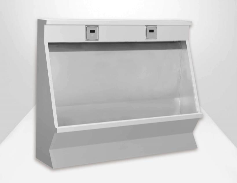 车站用不锈钢小便池 不锈钢小便槽标准 萍乡订做不锈钢小便池