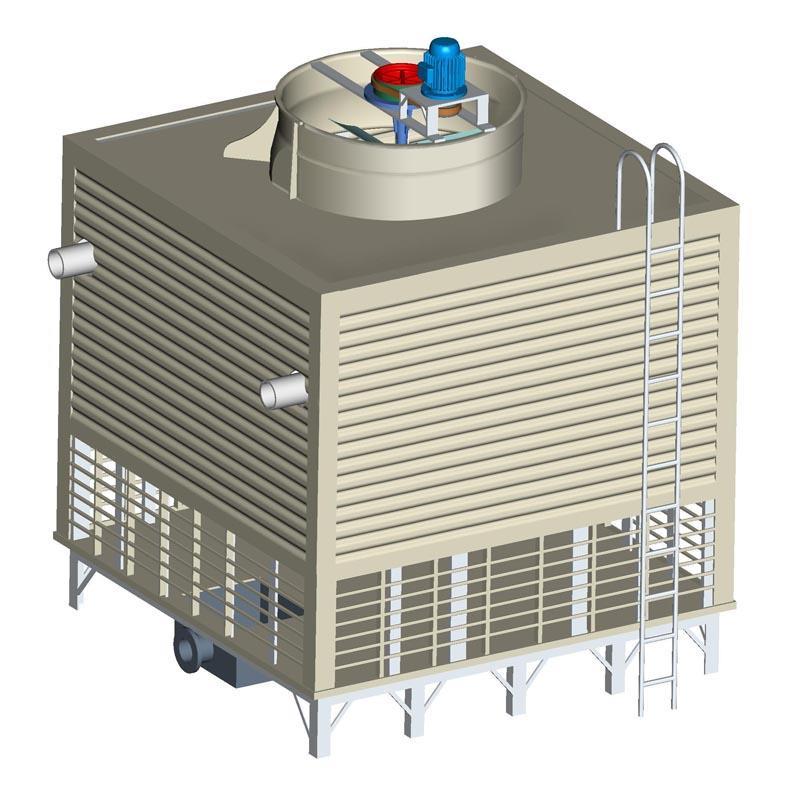 地源热泵冷却塔 岳阳逆流式冷却塔锻造冷却系统