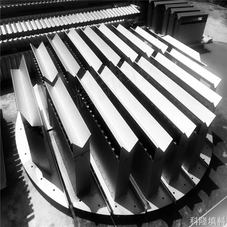 可拆型槽盘液体分布器 福建钛槽盘液体分布器