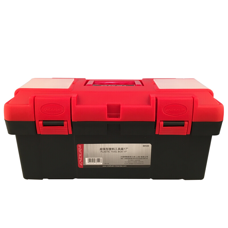 """力易得工具箱,塑料加强型 19"""", E8125 加强型塑料工具箱19 E8125"""