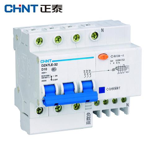 正泰CHINT 微型剩余电流保护断路器 DZ47LE-32, 1P+N 6A C型 30mA AC 环保外壳