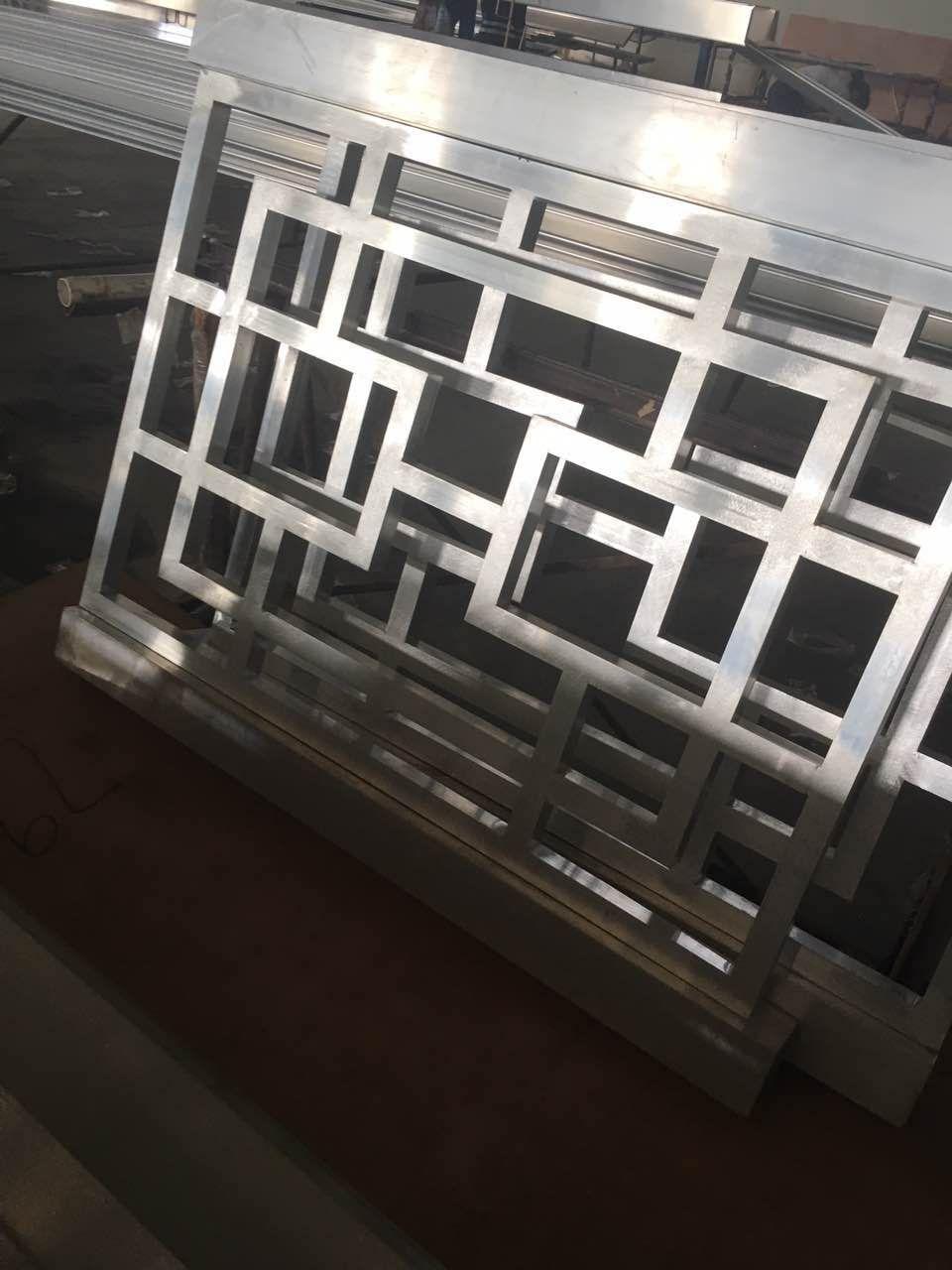 门廊铝挂落 庭院防盗铝合金窗花