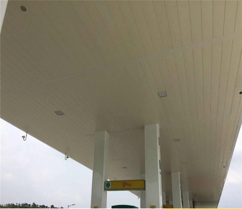 长条铝条扣 国道加油站防风条形铝扣板