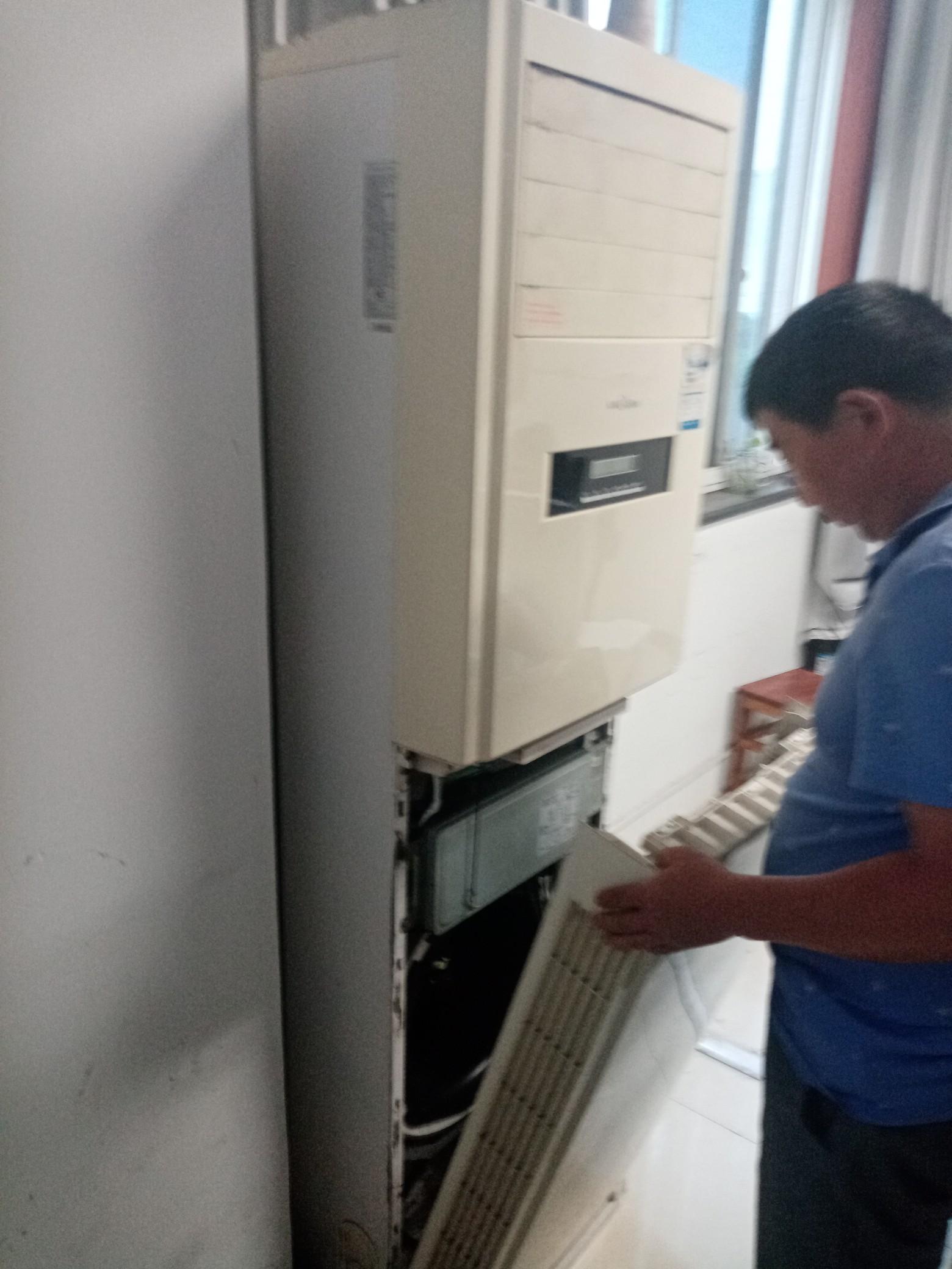 空调加氧 空调不启动 义乌江北空调清洗服务