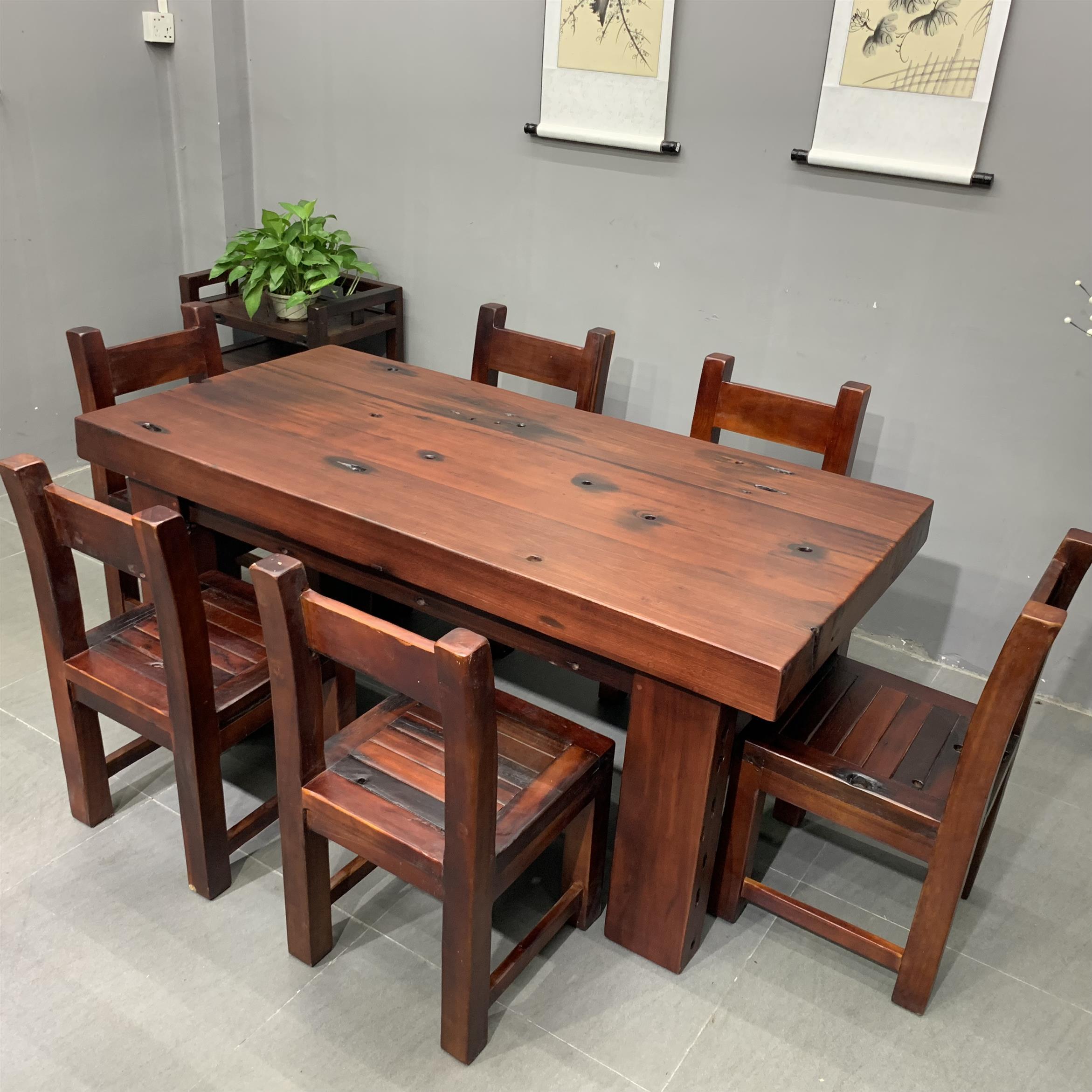 实木现代餐桌 餐桌椅组合品牌