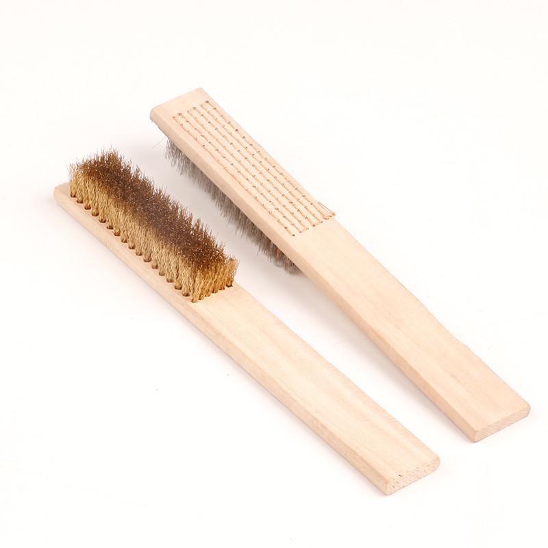 Bojoy 木柄钢丝刷 长度:270mmmm, 规格:6*15mm, 柄型:木柄