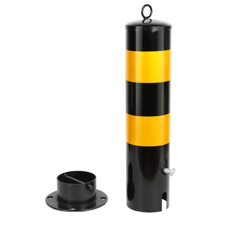 大地 警示柱 材质:冷轧钢(带反光), 颜色:黄黑, 高度:750mm, 直径:80mm, 底座直径:140mm