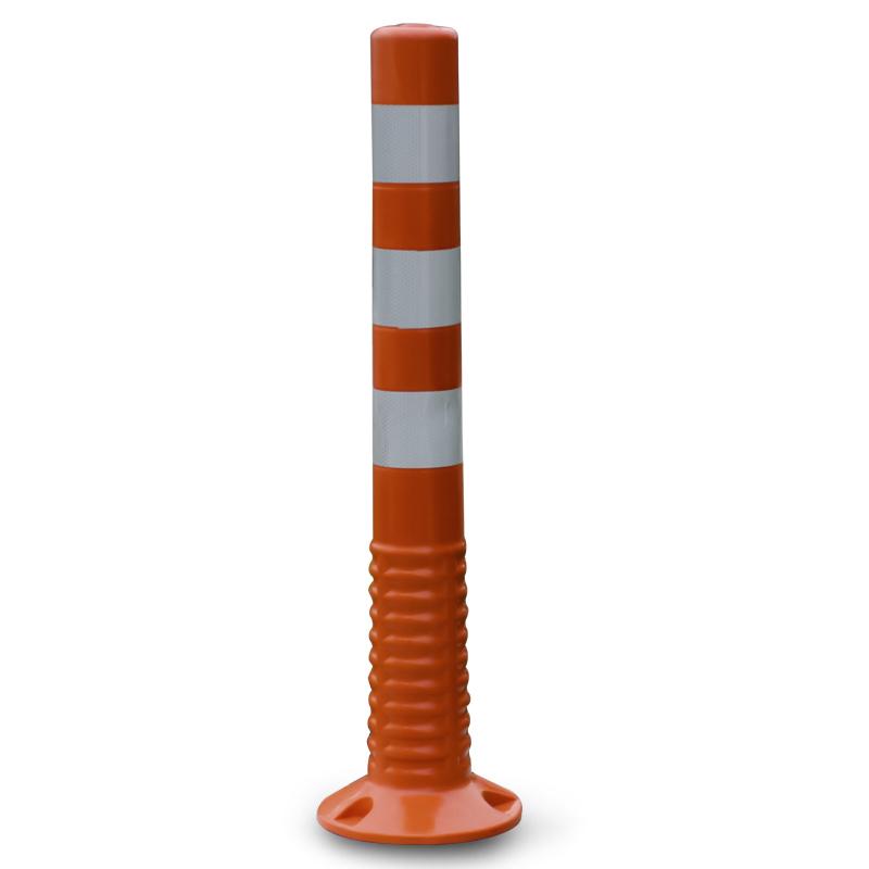 大地 警示柱 材质:冷轧钢(带反光), 颜色:红白, 高度:750mm, 直径:80mm, 底座直径:140mm