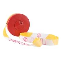 大地 警戒带 材质:布, 颜色:黄白, 长度:100m, 宽度:4cm
