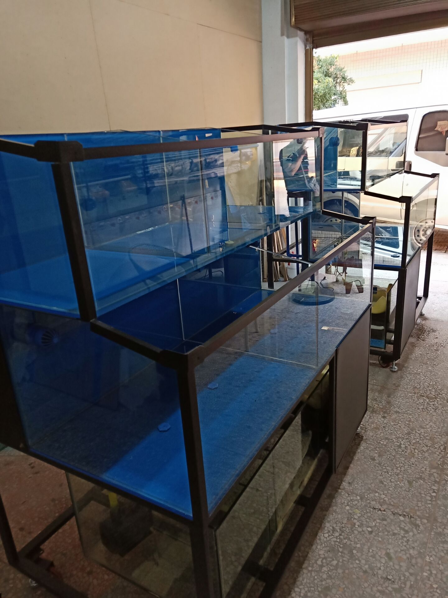饭店暂养鱼缸 郴州超市海鲜池价格