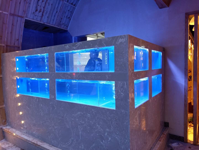 水产市场海鲜鱼缸定做 永州海鲜鱼缸电话