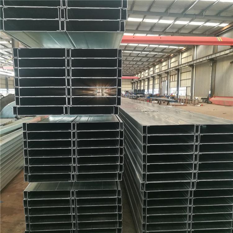 加筋C型钢 惠州钢结构用C型钢带孔C型钢