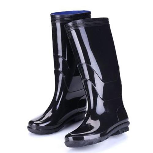 者也 高腰雨鞋 耐磨雨鞋 耐酸碱牛筋底鞋 雨靴 类型:高腰, 码数:42