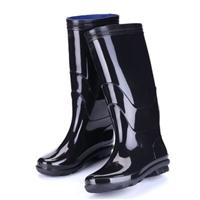 者也 高腰雨鞋 耐磨雨鞋 耐酸碱牛筋底鞋 雨靴 类型:高腰, 码数:44