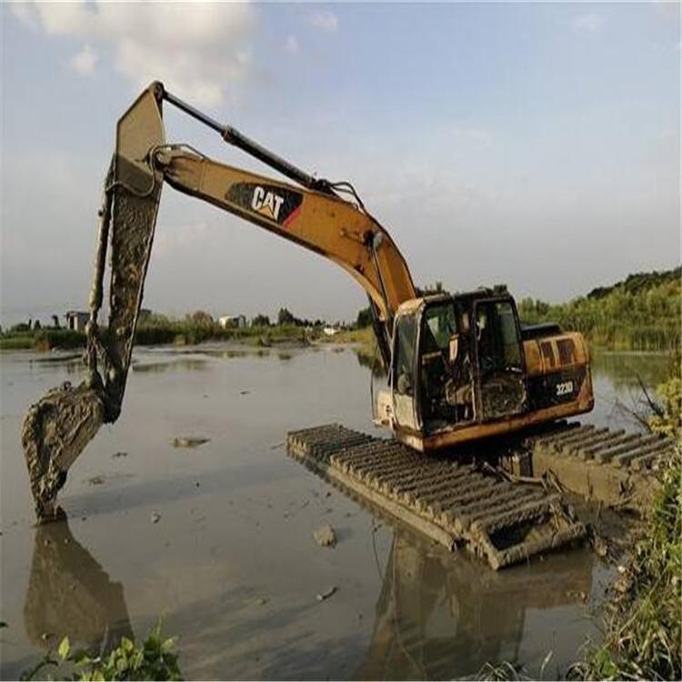 水陆挖掘机租赁 衡水水上漂挖掘机租赁公司
