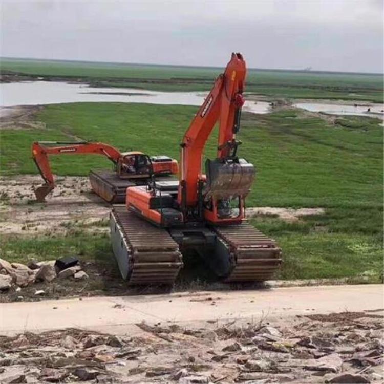 水陆挖机租赁 赣州市水上挖掘机租赁报价