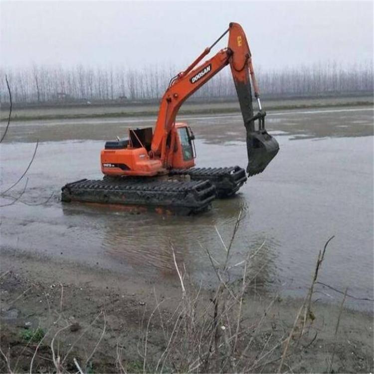 水上漂挖机租赁 红河水陆两用挖掘机出租报价