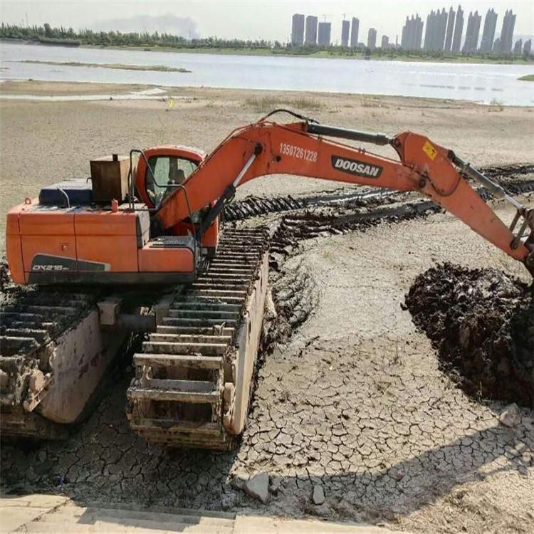 水陆两栖挖机租赁 黑龙江水陆挖掘机租赁公司