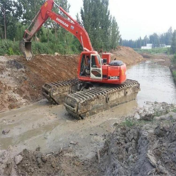 水陆两栖挖掘机租赁 海南水上挖机出租公司