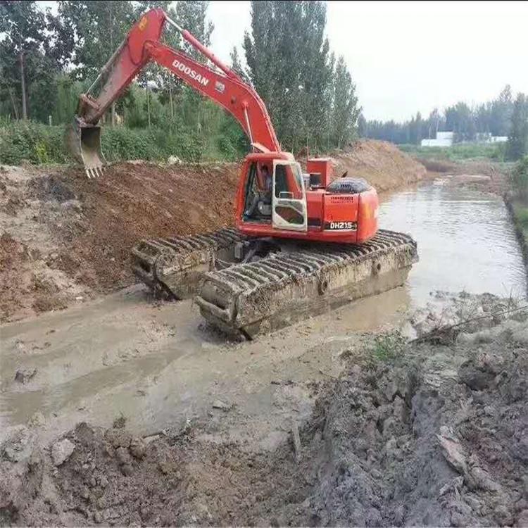 沼泽湿地挖掘机出租 韶关水陆挖掘机租赁价格