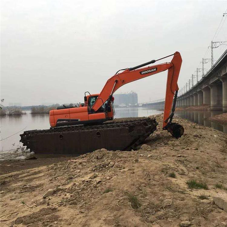 水上挖掘机出租 长沙水陆挖掘机租赁公司