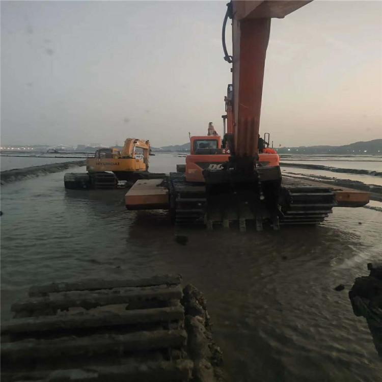 河道清淤挖掘机出租 甘肃水陆两栖挖掘机租赁价格