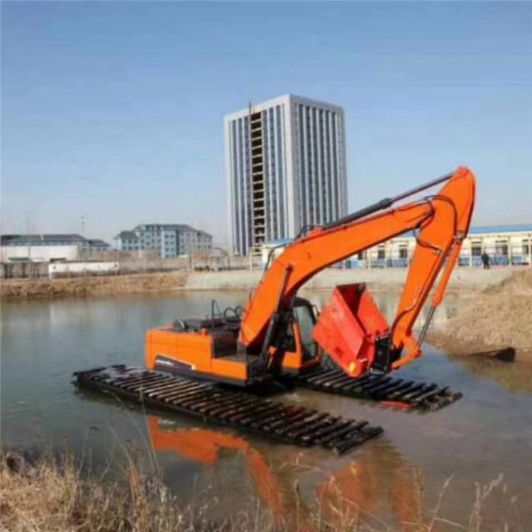 水上挖机出租 桂林水陆两用挖掘机出租价格