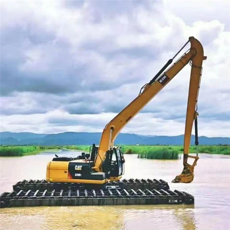水陆挖机租赁 湘潭水上挖掘机出租价格