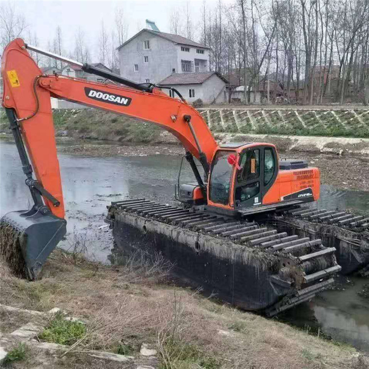 水陆两用挖机租赁 金华水上挖掘机租赁公司