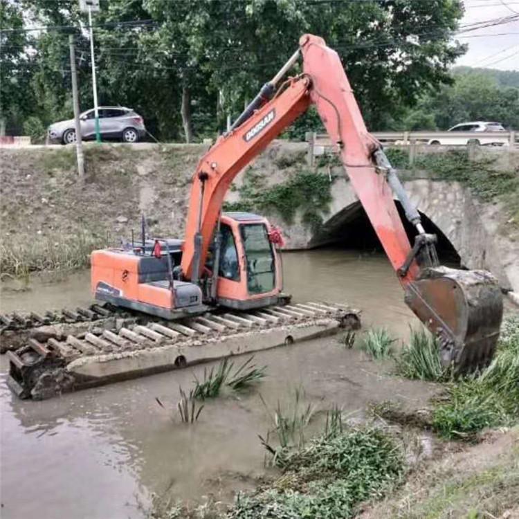 水上船挖机租赁 湖南水陆两栖挖掘机租赁价格