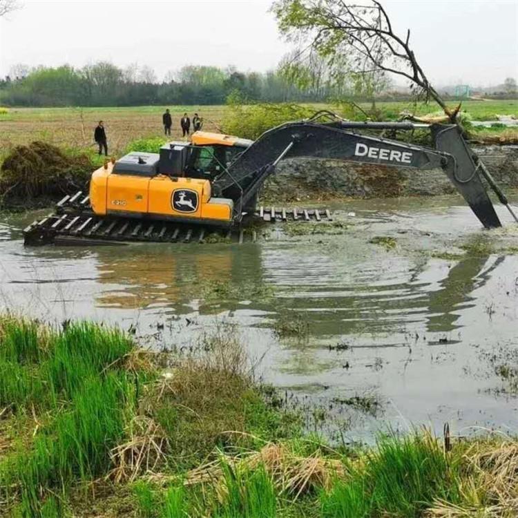 湿地挖机出租 吉安市水陆挖掘机租赁价格