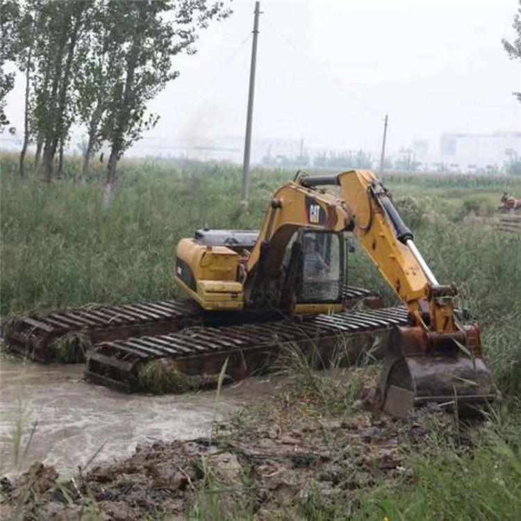 沼泽湿地挖掘机租赁 运城水上挖掘机租赁价格