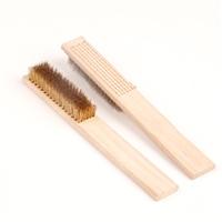三洋 木柄钢丝刷 钢丝刷 长度:270mmmm, 规格:6*15mm, 柄型:木柄