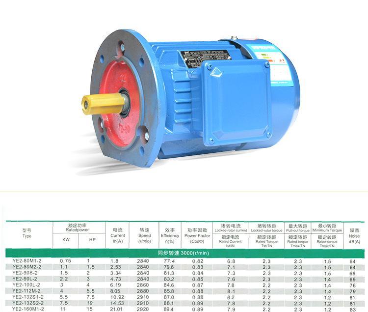 三相異步電機 YE2三相異步電動機抗震