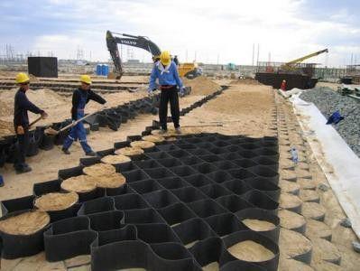 高强土工格栅 福州土工格室单人施工