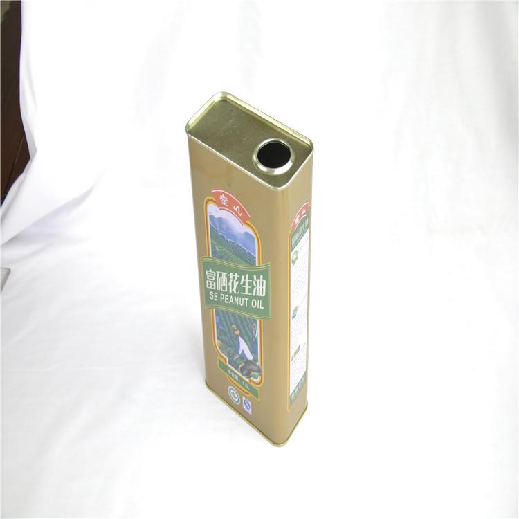 马口铁罐 绍兴芝麻油印花铁罐