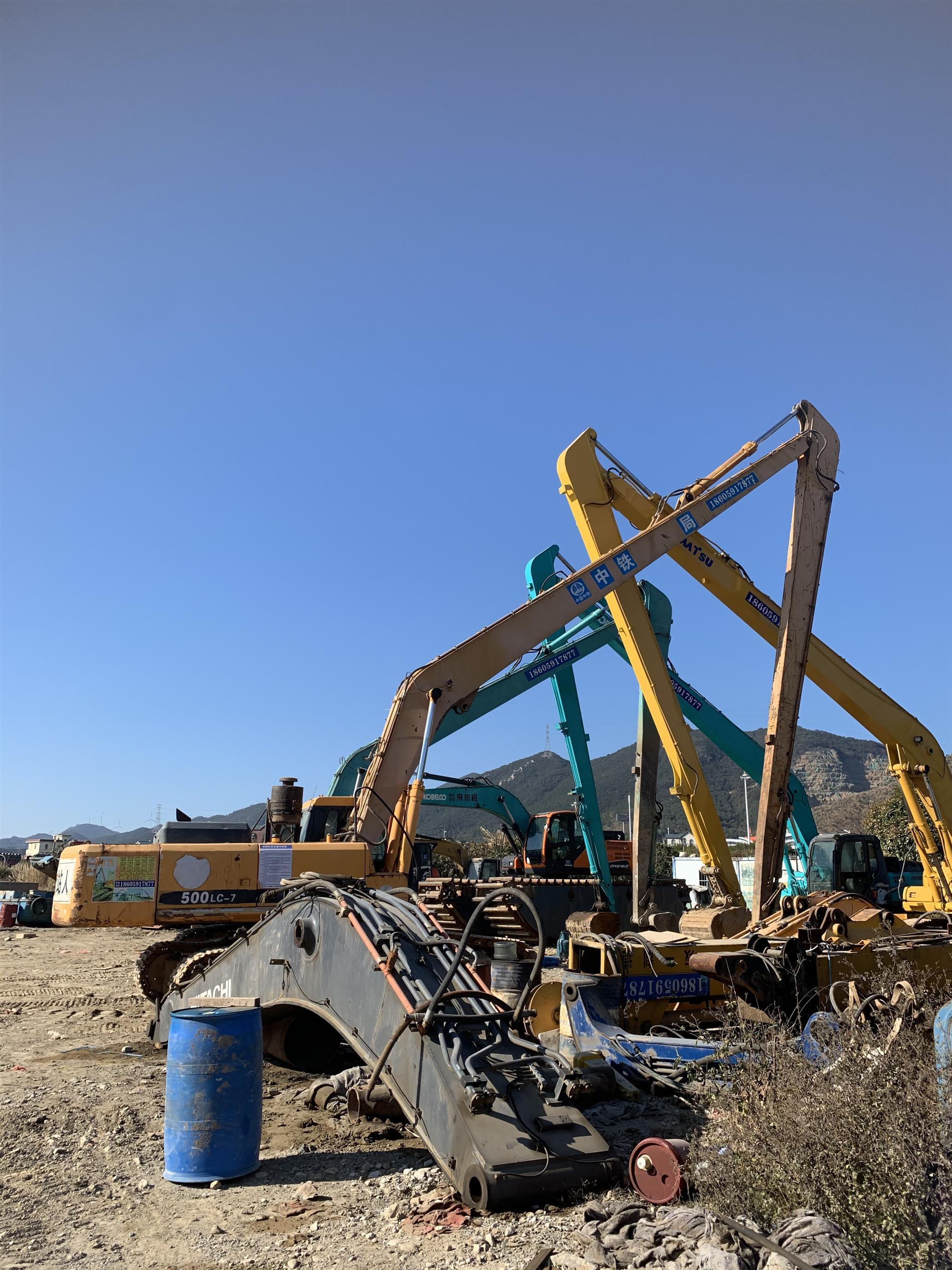 18米加长臂挖掘机出租费用
