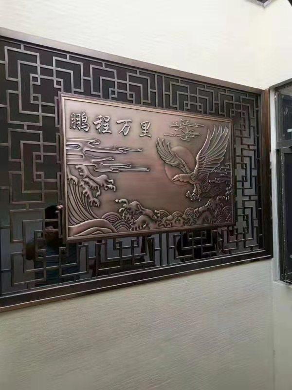 轻奢铜铝雕刻工艺 昆明铜铝楼梯雕花护栏批发