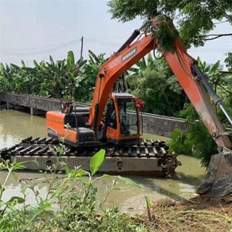 水陆两用挖机出租价格表 广州出租水路两用挖机